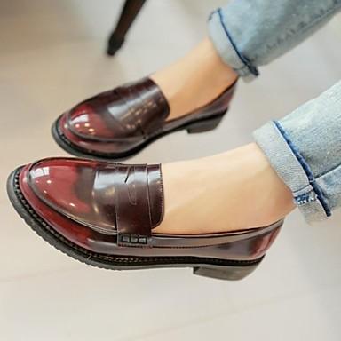 chaussures femme habill noir bordeaux gros talon bout arrondi mocassins cuir. Black Bedroom Furniture Sets. Home Design Ideas