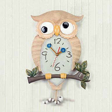 Disegno del gufo di polyresin orologio da parete con for Foto orologio da parete