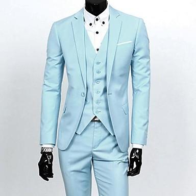 Style Cor En Entreprise Mince Costume D Contract Le Blazer D 39 Hommes Gilet Un Pantalon Usd