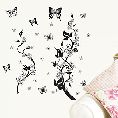 Wall stickers wall decals butterfly style decorative for Autocollant mural ikea