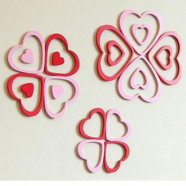Adesivi murali 3d stickers murali a forma di cuore design for Adesivi murali 3d