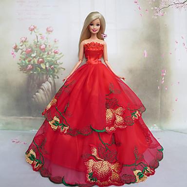 Poupée Barbie rose rouge Design Princesse Robe de mariée de 1137679 ...