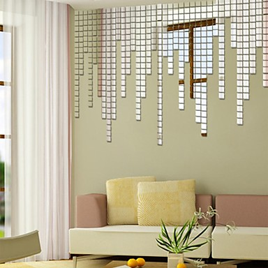 Mirrored Wall Decals shapes wall stickers mirror wall stickers decorative wall stickers