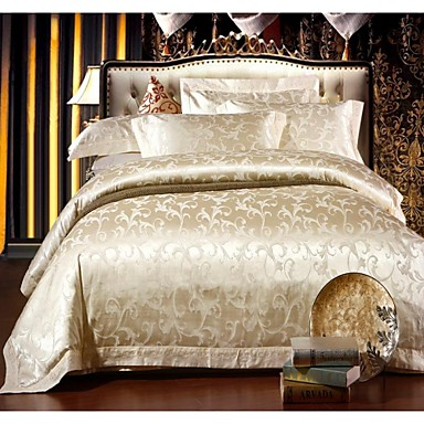 housse de couette literie jacquard de coton modal fix haute qualit literie king size de suite. Black Bedroom Furniture Sets. Home Design Ideas