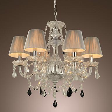 Lampadario di cristallo di lusso moderni 1 livelli vivono 6 luci ...