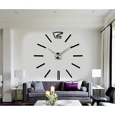 Home Decor Hours Diy Modern Frameless Large Wall Clock