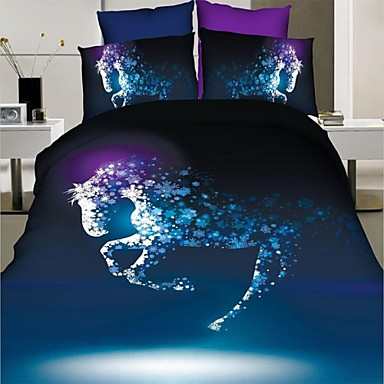 couette ensemble de couverture 3d cheval couvre lit. Black Bedroom Furniture Sets. Home Design Ideas