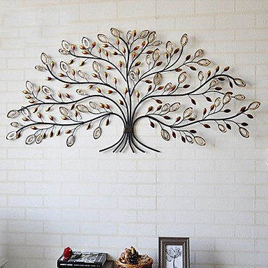 E foyer d coration murale d 39 art de mur en m tal arbre for Decoration murale en metal