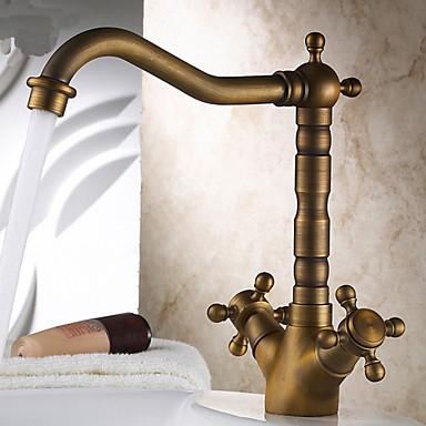 Centerset antique brass kitchen faucet 2923040 2016 - Antique brass bathroom faucet centerset ...