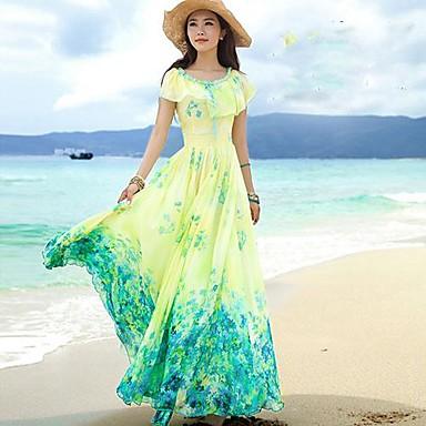 Creative  Clothing Style Sundresses For Women Summer Beach Strapless Beach Dress