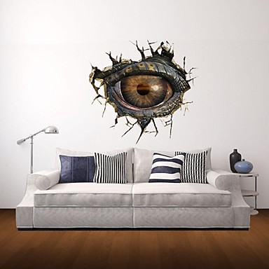 Wall Stickers Decor 3d wall stickers wall decals, monster eye decor vinyl wall