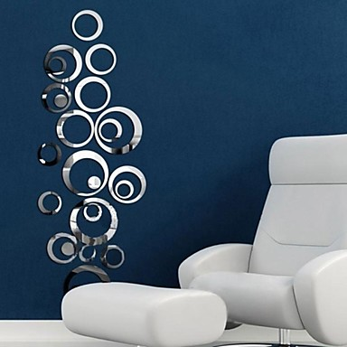 Mirrors Wall Stickers Mirror Wall Stickers Decorative Wall - Wall decals mirror