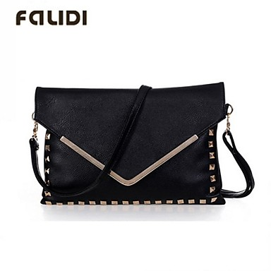 Retro Rivet Shoulder Bag 24
