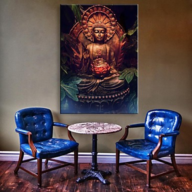 Buddha led canvas