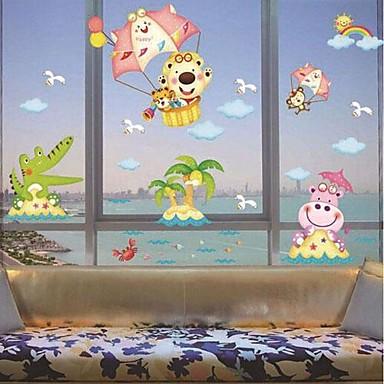 이동식 동물 '바다 모양의 어린이 방 벽 스티커 - USD $ 7.99