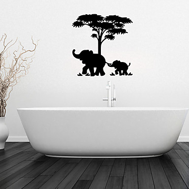 Http Lightinthebox Com Wall Stickers Wall Decals Elephant And Baby Elephant Bathroom Decor Mural Pvc Wall Stickers P3022137 Html