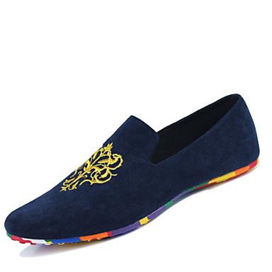 Zapatos de hombre mocasines casual tela negro azul - Zapateros de tela ...