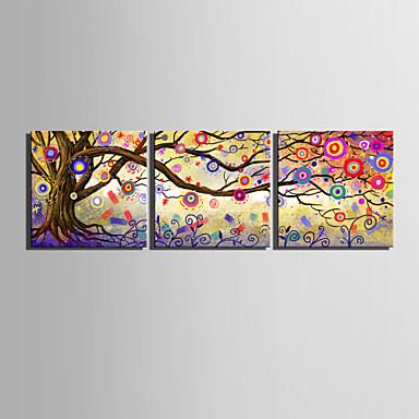 E foyer toile tendue art couleur arbre abstrait peinture d corative ensemble - Toile decorative murale ...