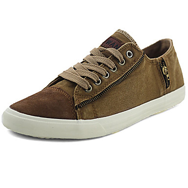 Men's Shoes Outdoor/Office & Career/Athletic/Casual Canvas Fashion Sneakers Gray/Navy/Khaki