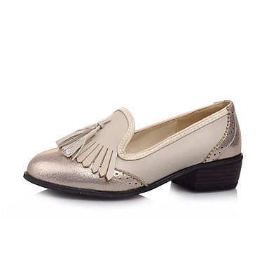 s shoes leatherette low heel toe loafers dress