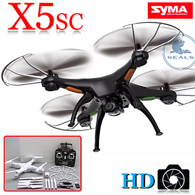 drone rc syma x5sc avec cam ra hd version am lior e x5c mode sans t te bouton retour de 2016. Black Bedroom Furniture Sets. Home Design Ideas