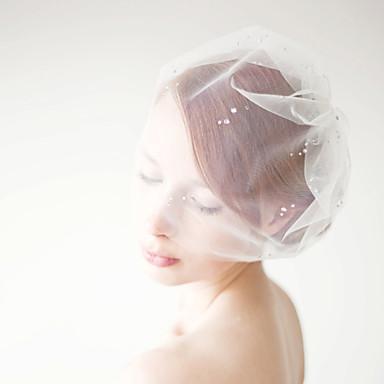 rhinestone adorned birdcage veil onetier blusher veils