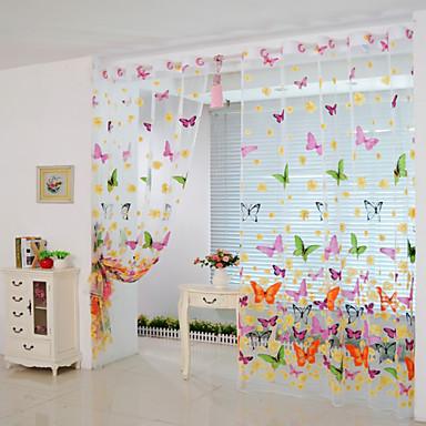 200cm * 100cm sommerfugl print lutter vindue panel gardiner ...