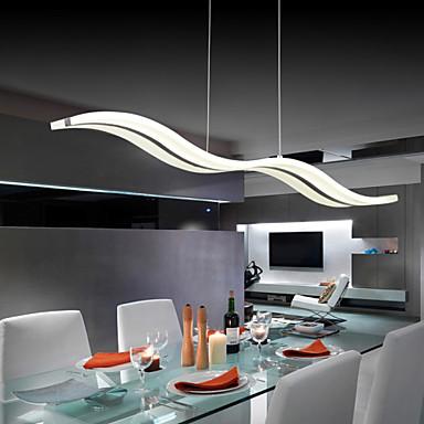 umei ™ 40W moderne / moderne ledet krom vedhæng lys stue ...