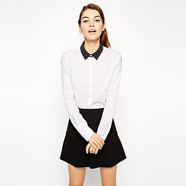 Белая Блузка С Черным Воротником Доставка