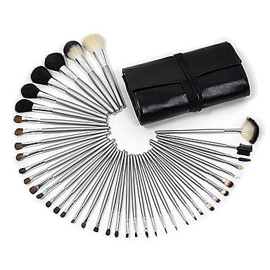 professional 40 pcs wool makeup brush set with free black