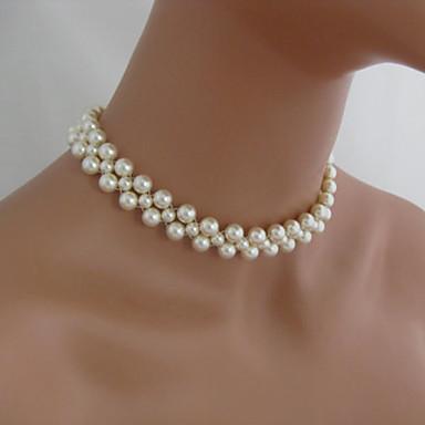Gargantillas Gargantillas / Strands Collares / Collar con perlas Joyas Fiesta / Diario / Casual Moda Perla Plateado 1 pieza Regalo 3571217 2016 \u2013 $6.99