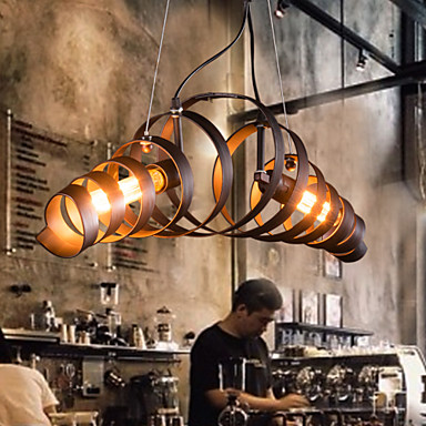 Max 60w chandelier modern contemporary electroplated for Suspension metal cuisine