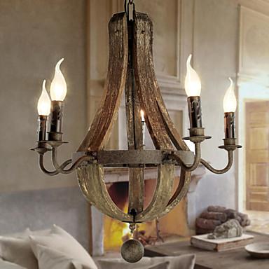 max40w lustre vintage r tro lanterne rustique peintures fonctionnalit for style bougie. Black Bedroom Furniture Sets. Home Design Ideas