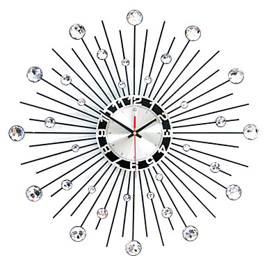 modern contemporary wall clock round iron 50 x 50 x 3 x x indoor clock. Black Bedroom Furniture Sets. Home Design Ideas