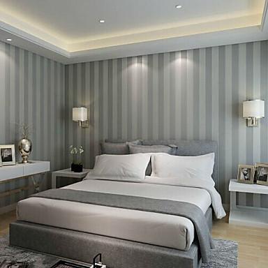 new rainbown contemporary wallpaper stripe grey strips striped wallpaper wall covering non. Black Bedroom Furniture Sets. Home Design Ideas