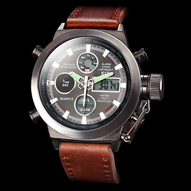 men s multifunctional analog digital wristwatches luxury