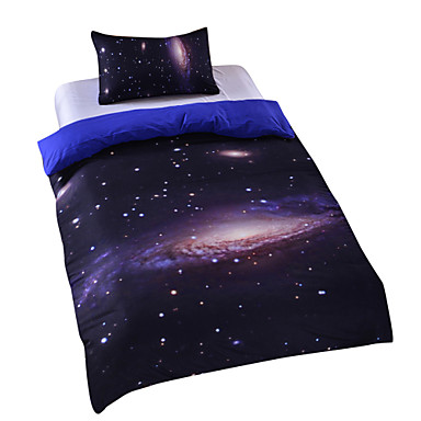 New Galaxy Outer Space Duvet Cover Set Bedding Twin Full