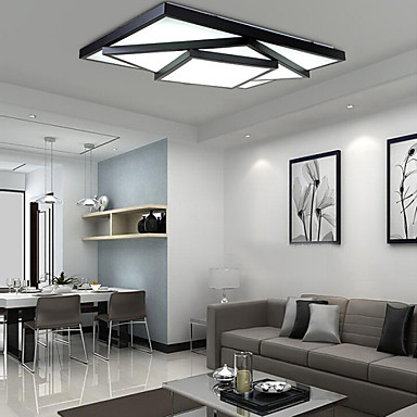 24w 90 265v Ikea Style Square Flush Mount Led Modern Contemporary Living Room Ceiling Light
