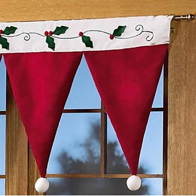 Adornos de navidad cortinas cuelgan actuar el papel de - Cortinas de papel para navidad ...