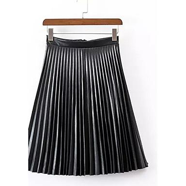 femme jupes trap ze blocs de couleur pliss taille haute vintage midi sortie pu non lastique. Black Bedroom Furniture Sets. Home Design Ideas