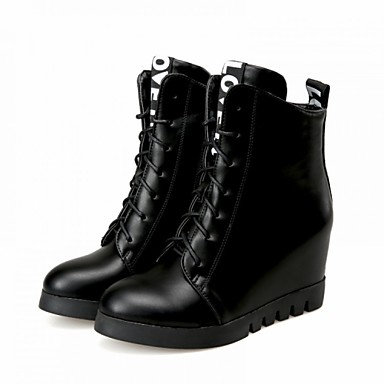 Women&39s Shoes Leatherette Wedge Heel Combat Boots Boots Outdoor