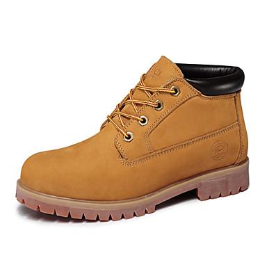Zapatos de hombre botas oficina y trabajo casual cuero - Zapatos de trabajo ...