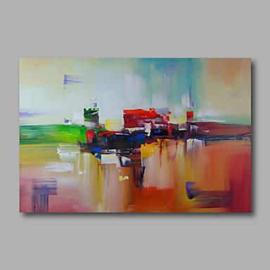 Handgeschilderde abstractmodern e n paneel canvas hang geschilderd olieverfschilderij for - Hang een doek ...
