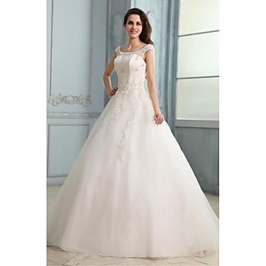 trap ze robe de mariage longueur sol d collet tulle avec appliques de 4523936 2016. Black Bedroom Furniture Sets. Home Design Ideas
