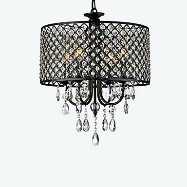 max 60w contemporain batterie cristal chrom lustre. Black Bedroom Furniture Sets. Home Design Ideas
