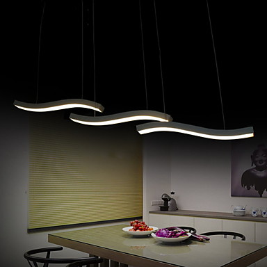 Wavy Design 40W LED Fashion Simple Acrylic Pendant Lights Living ...