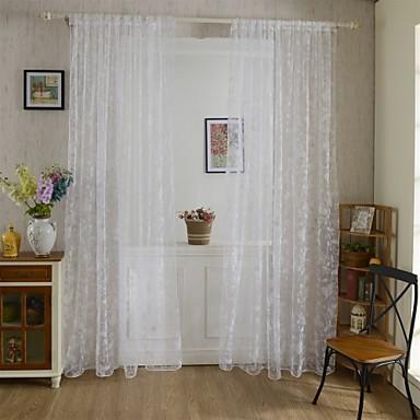 un panneau le traitement de fen tre rustique salle de s jour polyester mat riel rideaux tentures. Black Bedroom Furniture Sets. Home Design Ideas