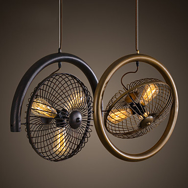 Retro Classic Metal Ceiling Fan Lights Simple Dining Room Kitchen