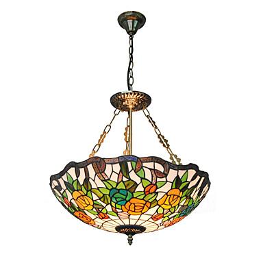 21inch retro tiffany pendant lights glass shade living room dining room light. Black Bedroom Furniture Sets. Home Design Ideas