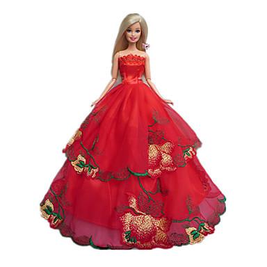 Princesse Robes Pour Poup E Barbie Rouge Robes Pour Fille De Doll Toy De 1137679 2017